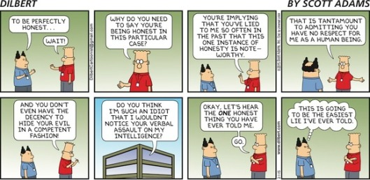 Dilbert e a mentira perfeita